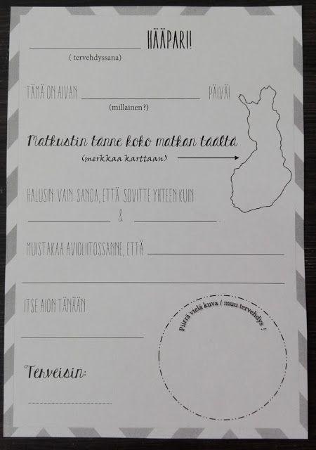 Latohäät: DIY Viesti hääparille-laput