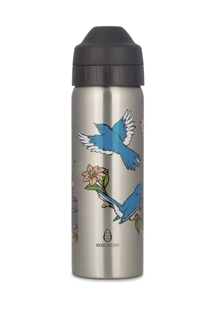 600ml Chinoiserie Birds insulated water bottle