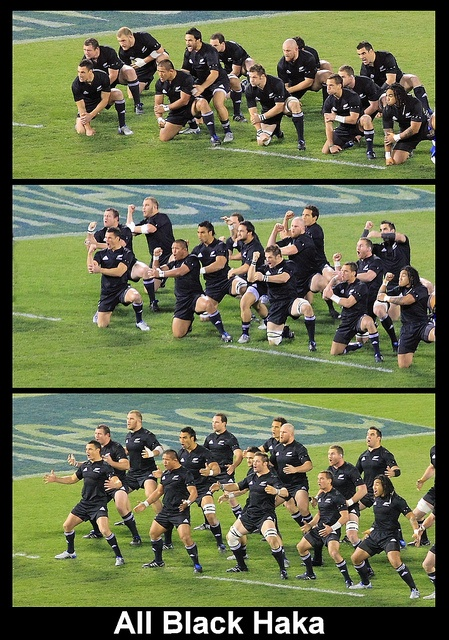 I LOVE teams that do the haka before a game. All Black Haka by Geoff Trotter, via Flickr