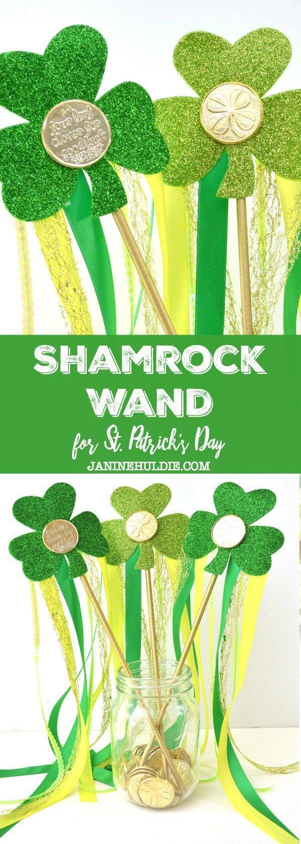Sparkly Shamrock Wand Craft