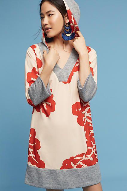 Karen Zambos Palm-Printed Hoodie Pullover
