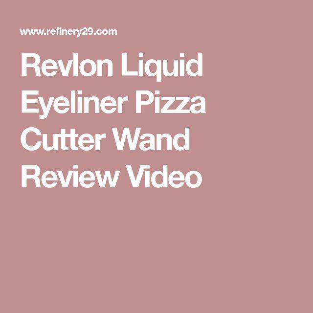 Revlon Liquid Eyeliner Pizza Cutter Wand Review Video