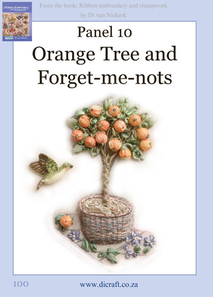 How to make the basket and oranges…. Click to to enlarge                                 How to make the tree trunk and the oranges… Click on image to enlarge                                               Make the green core and adding leaves and a bird… Click on image to enlarge