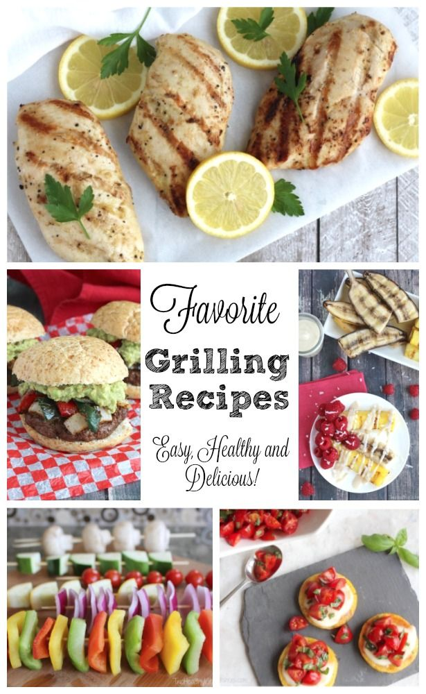 Grill Recipes for everything from appetizers to dessert, plus grilled chicken and unique burgers – even grilled pizza! Delicious, healthy grilling recipes your family will love all summer long!   www.TwoHealthyKitchens.com