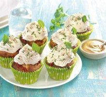 Recette - Cupcakes à la moutarde et tomates confites - Notée 4.3/5 par les internautes