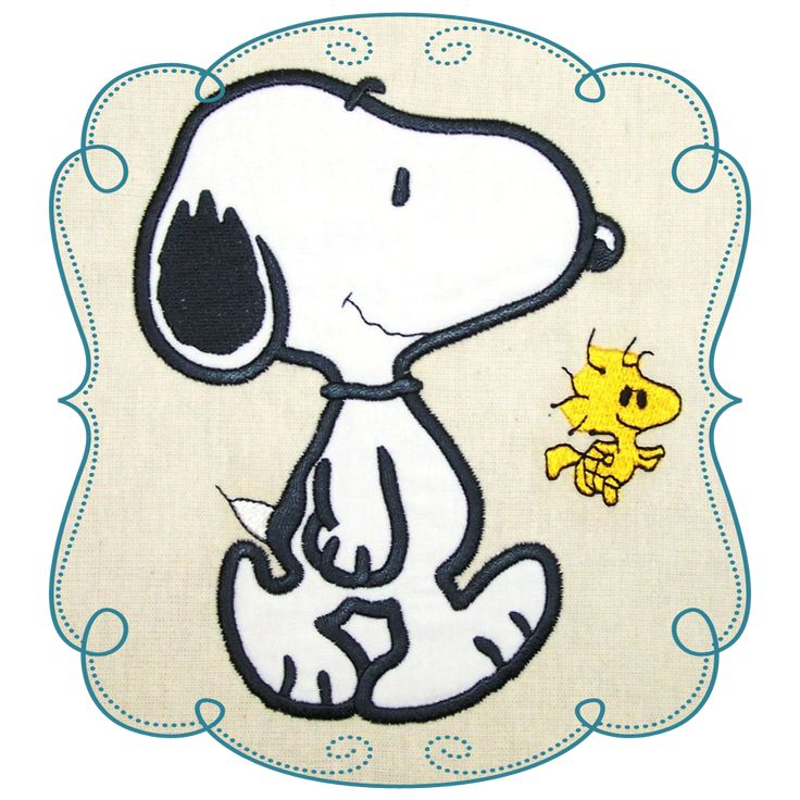 Snoopy Applique Machine Embroidery Design Pattern-INSTANT DOWNLOAD