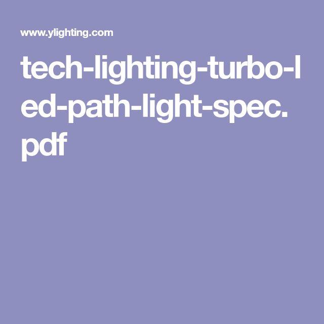 Tech Lighting Turbo Led Path Light Spec Pdf