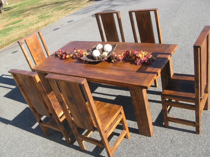 Distressed Stained Dining Set. $2,100.00, Via Etsy. Pine Dining  TableReclaimed Wood Dining TableTable And ...