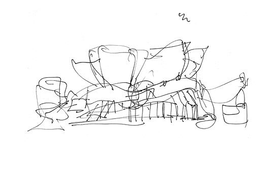 Frank Gehry Disney Concert Hall Sketch Google Search