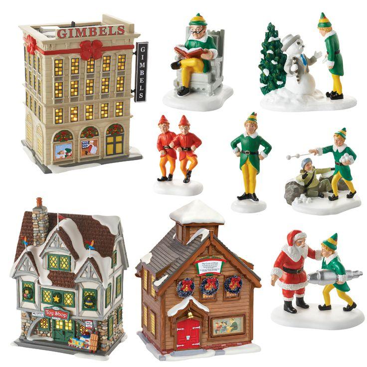 The Jolly Christmas Shop - Department 56 ELF The Movie Village 9 Piece Set 4053059SET, $379.00 (https://www.thejollychristmasshop.com/department-56-elf-the-movie-village-9-piece-set-4053059set/)