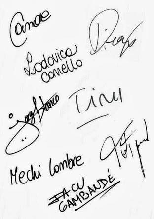 Acestea sunt semnaturile exprimate de Violetta si prietenii ei.Cautati semnatura idolului tau/aici?Mina daca nustii cum o cheama in realitate pe Violetta,pe Violetta     o cheama Tini.