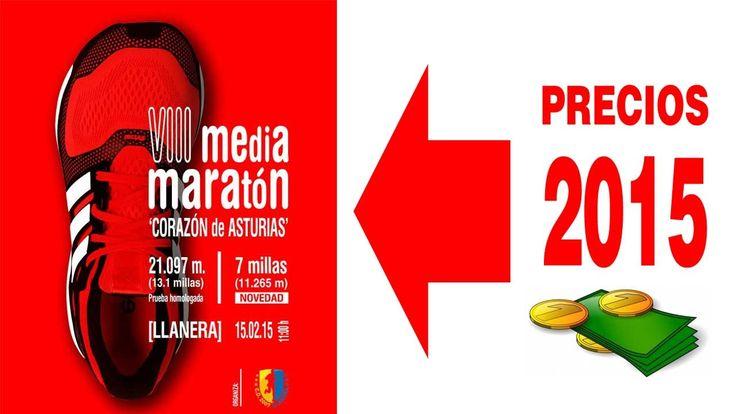 """2015. Video que sobre la base del anuncio de la Lotería Nacional de 2014 explica los precios de la VIII Media Maratón """"Corazón de Asturias"""""""