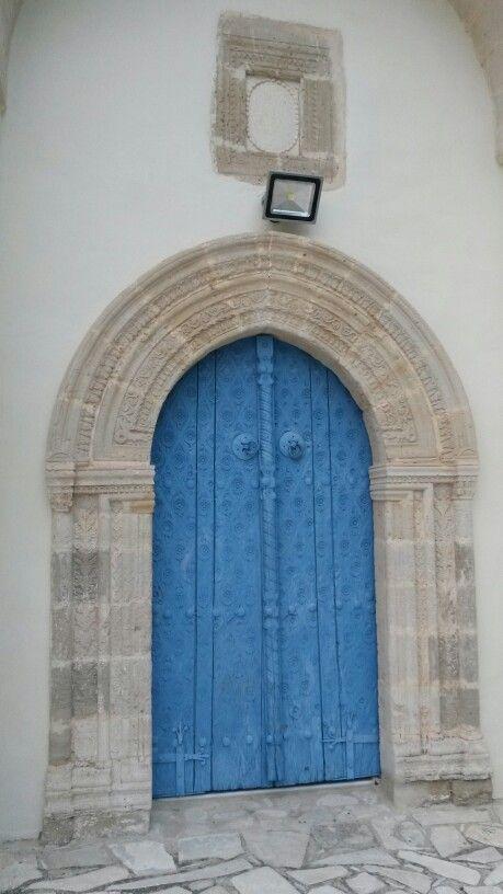 Blue church door ,kato lefkara, cyprus