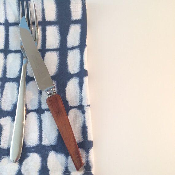 midcentury modern steak knives set/6 NEW NEVER USED by mdrnvintagenest