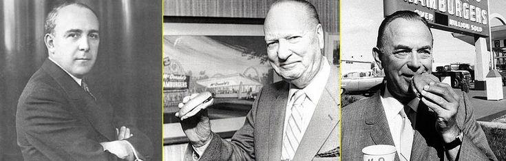 """""""Maurice (Mac) McDonald – Richard (Dick) McDonald – Ray Kroc"""" http://www.weimark.es/brann/mcdonalds-la-historia-de-el-fundador-de-la-comida-rapida/ #Historia #Branding #FastFood"""