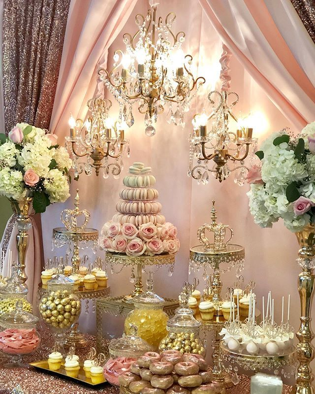 Candy Dessert Table Designed By Bizziebeecreations Macaroons By Leparadismacaron Laser Sweets Table Wedding Wedding Dessert Table Sweet 16 Centerpieces