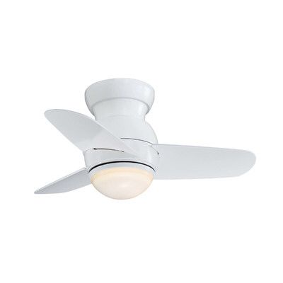 "26"" Spacesaver Flush Mount 3-Blade Ceiling Fan"
