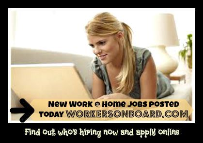 Several virtual agents needed and other work at home jobs posted on the weekly job section today http://www.workersonboard.com/Weekly_Jobs.php