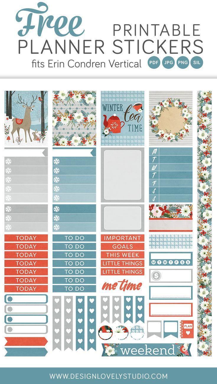 erin condren free printable planner stickers kit