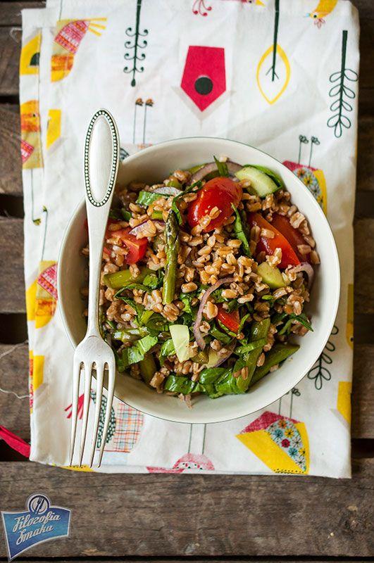 Sałatka z orkiszem i szparagami/Spelt salad with asparagus