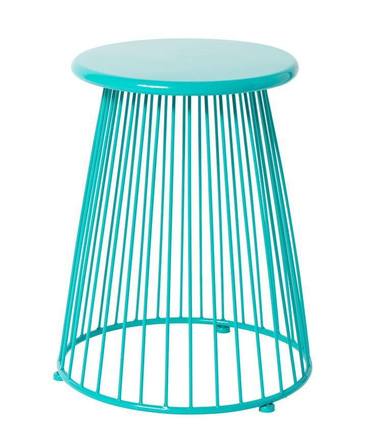 Calypso Wire Stool Turquoise - Milk & Sugar - Furniture - Homeware 109.95