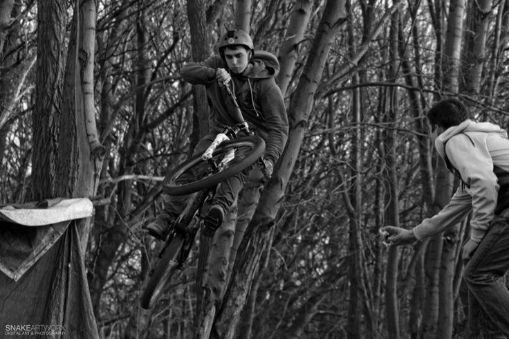 """Local Hero"" ©2015 SnakeArtworX - Digital Art & Photography.  #photography #sports #dirt jumping #downhill #mountainbike #500px"