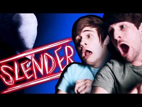 Slender Man Makes Us Cry! This is too funny! Ian and Anthony take on Slender!  And, completely freak out. Are we next to Disney Land again?