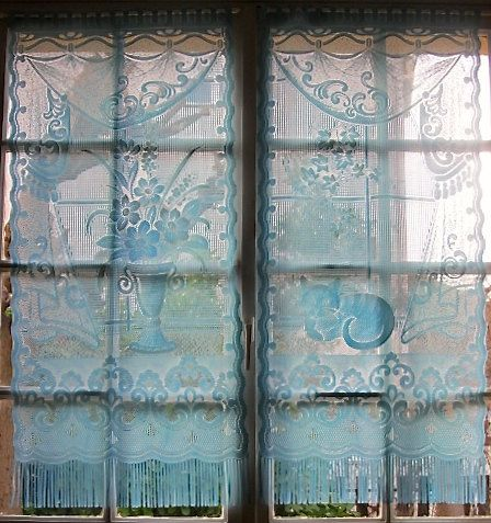 Curtains Ideas cat curtains kitchen : 17 Best images about French curtains on Pinterest | French lace ...
