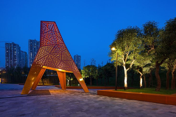 Fengming Mountain Park by Martha Schwartz Partners - Lighting