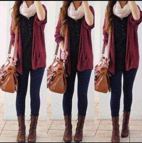 Este invierno a full con el negro-bordó-hueso o crema- y marrones ♥♥