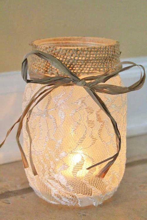 elegant mason jars. oxy-moron.