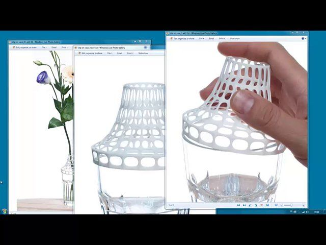 """This is a screen cast of how I digitally designed """"Clip on vase"""" using Rhnoceros 3D, Grasshopper and Waverbird. You can see full product presentation on my website www.ad-3d.com few words about the product: The """"Clip on vase"""" is an accessory bringing double functionality to an IKEA Pokal glass, so that it can also be used as a vase. A simple click is required to convert your glass into an aesthetically pleasing vase. The shape has been optimized so that it uses as ..."""