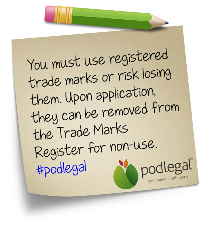 Trade Marks: use it or lose it #trademarks #IP #podlegal