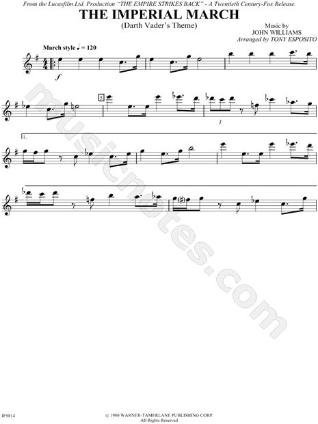 imperial march sheet music pdf