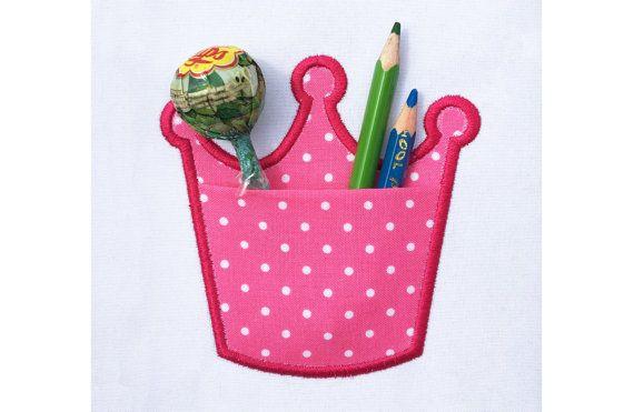 Corona reale PocketPrincess Applique macchina di EmbroideryLand