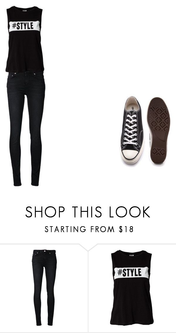 """Untitled #194"" by no-belle on Polyvore featuring BLK DNM, Vero Moda and Converse"