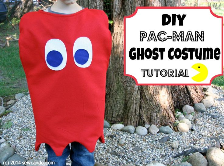Sew Can Do: DIY Pac-Man Ghost Costume Tutorial.  Fully lined and easy to make in any size!