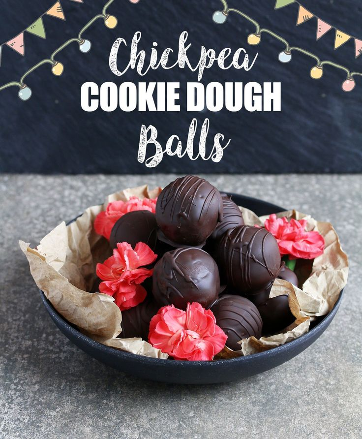 Chickpea Cookie Dough Truffles - UK Health Blog - Nadia's Healthy Kitchen