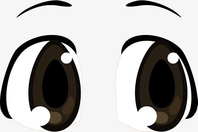 Black Big Eyes Vector Diagram Simple Eye Eye Simple Stroke Left