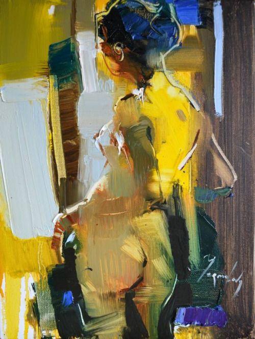 Iryna Yermolova (b. 1978, Ukraine, resides Dorset, England) - Shall I Wear This Skirt?, 2015    Paintings: Oil on Canvas