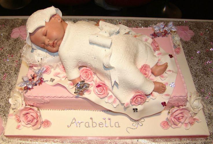 Stunning baby christening cake