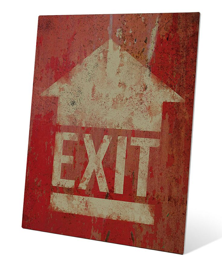 Exit Sign Metal Wall Art | Daily deals for moms, babies and kids