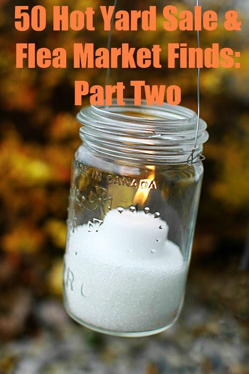 50 Hot Yard Sale and Flea Market Finds (And How to Use them in Your Wedding): Part Two: Masons, Craft, Wedding Ideas, Weddings, Mason Jars, Mason Jar Lanterns, Diy, Masonjar