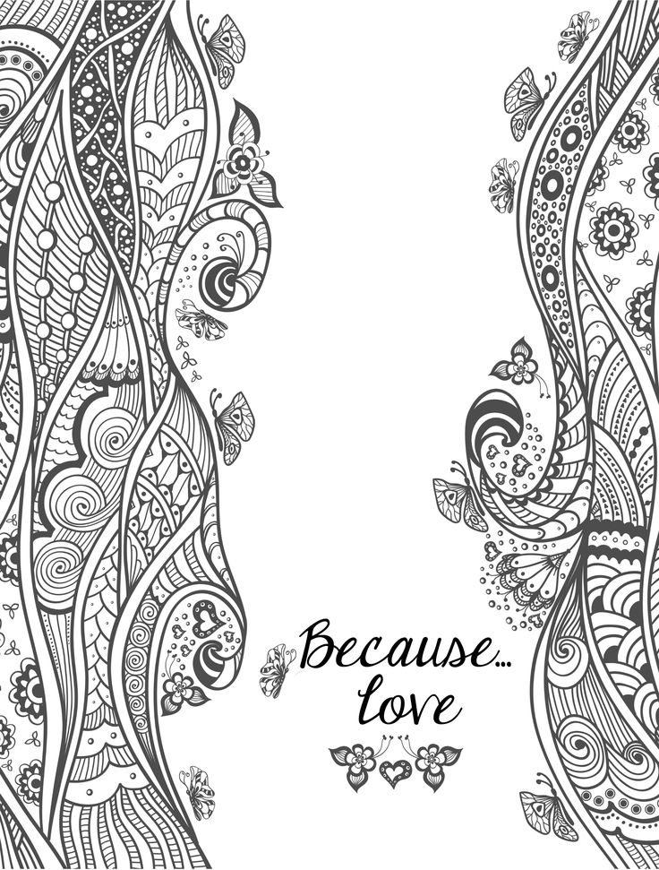 valentines abstract doodle zentangle paisley coloring