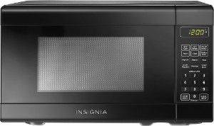 Insignia™ - 0.7 Cu. Ft. Compact Microwave - Black - Front Zoom