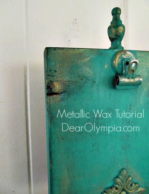 Introducing CeCe Caldwell's Metallic Wax! Plus a Tutorial on Waxing Cream and Aging Dust | Painted in Emerald Isle Green with El Dorado Gold Metallic Wax