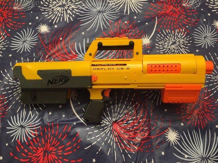Nerf N-Strike DEPLOY CS-6 Dart Gun Blaster & Clip Tactical Laser Yellow