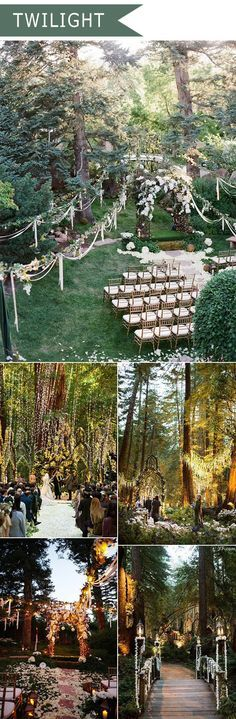 2016 trending twilight forest themed wedding ideas