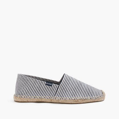 Crew Father's Day Shop: men's Soludos® for J.Crew espadrilles in stripe.