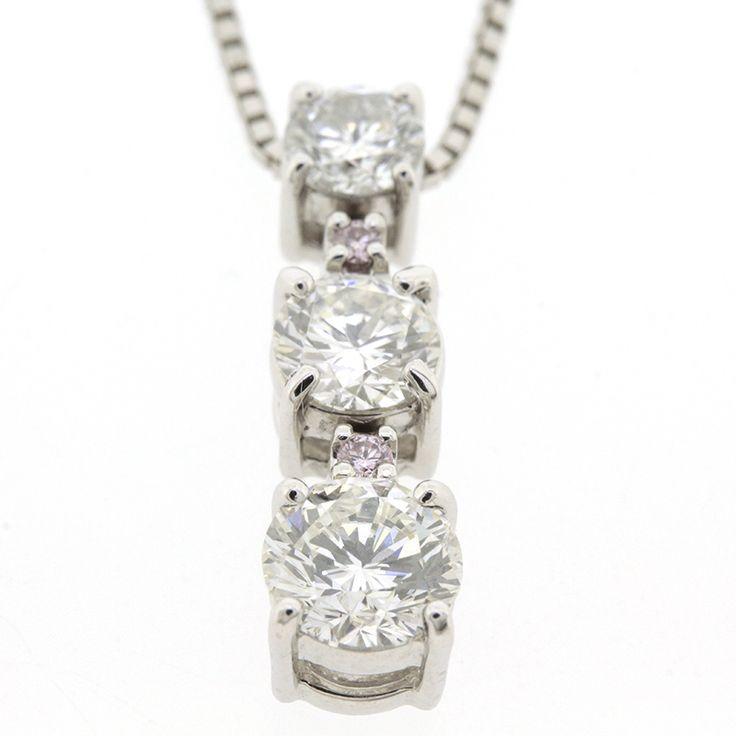 【商品名】Pt900 Pt850 プラチナ ダイヤ  0.306ct 0.424ct 0.770ct ネックレス【価格】¥328,000【状態】SA  2、3回使用程度の非常に綺麗な状態の商品です。